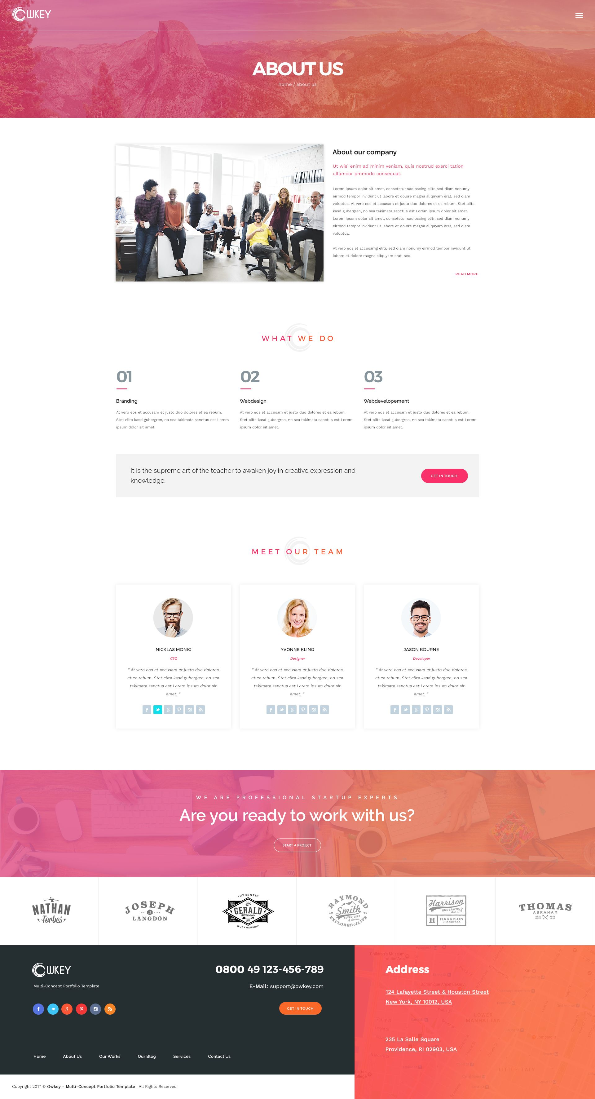 Owkey Multi Concept Html5 Template Html5 Templates Blog Layout Templates