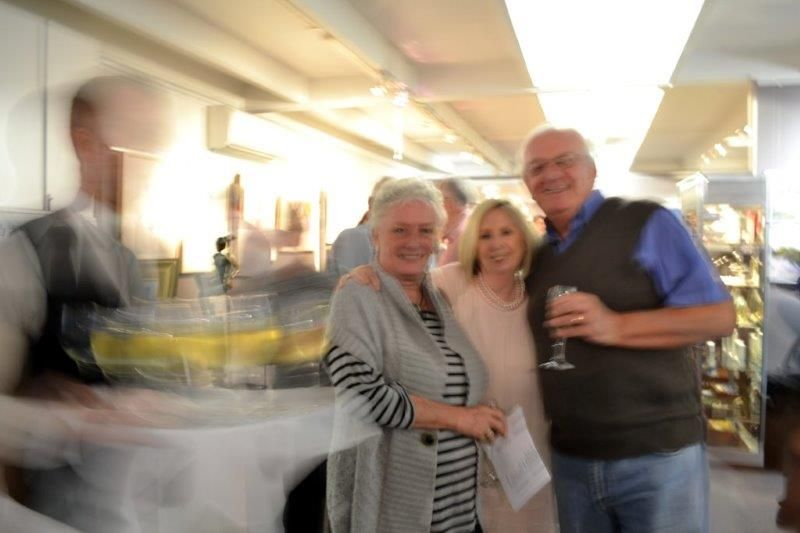 Lucette and Louis with Margaret Director of Red Hill Gallery, Brisbane.