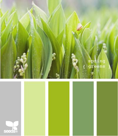 Springgreens510 Green Color Schemes Combos Colors Living Room Summer