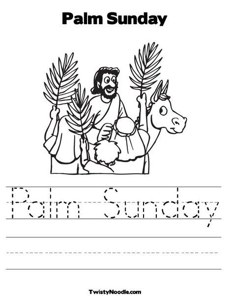 PALM SUNDAY | palm_sunday | Easter | Pinterest | Colorear, Entrada ...