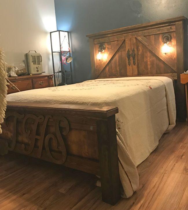 Ana White | Barn Door Farmhouse Bed - DIY Projects - Ana ...