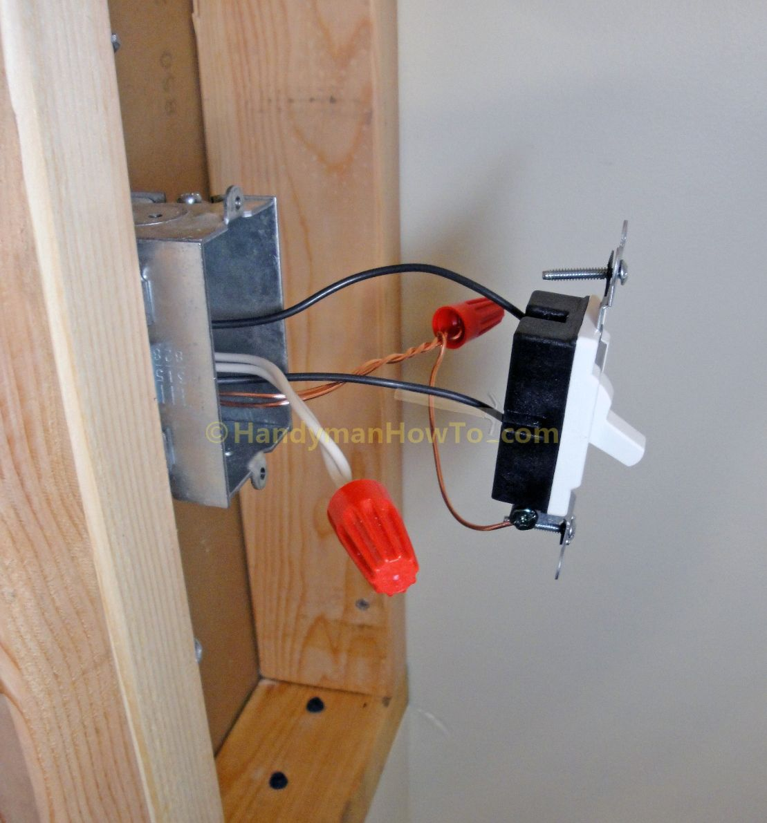 Photo Tutorial Showing How To Wire A Light Switch While