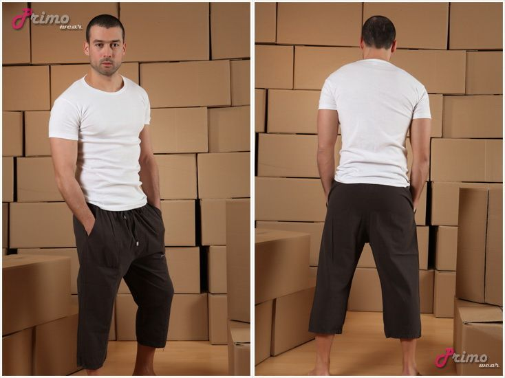 L660-10 Linen Mens Capri Pants | Capris & 3/4 Pants | Pinterest ...
