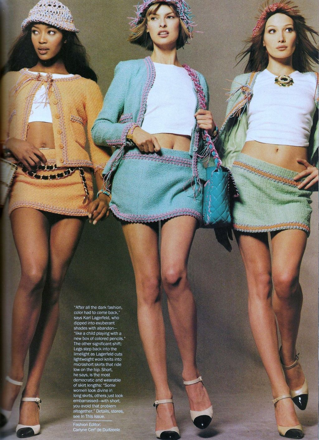 Throwback Thursday Chanel in Vogue March 20   Pointy Toe Shoe ...