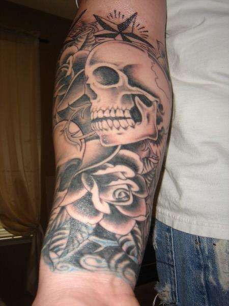 skull on forearm | #tattoo #skull | inked // skin art | Pinterest ...