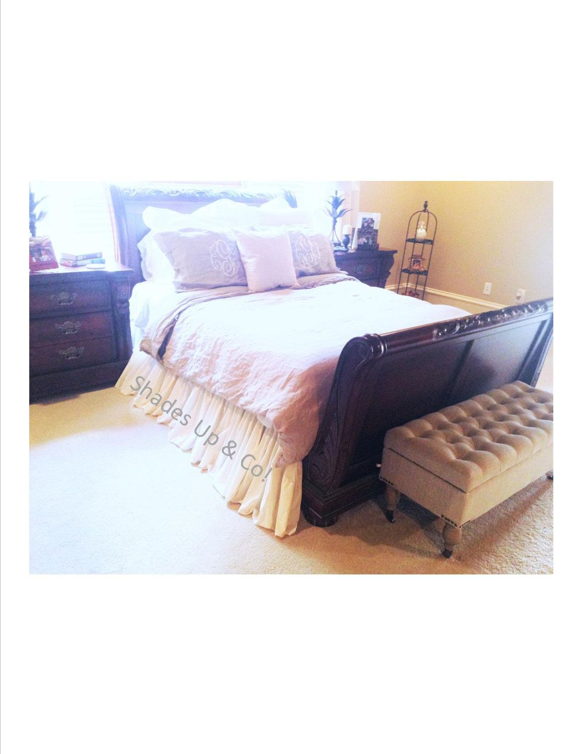 Made To Order Dust Ruffles Are A 6 To 8 Week Turnaround This Queen Size B Ruffle Bedding King Size Bed Skirt Ruffle Bed Skirts