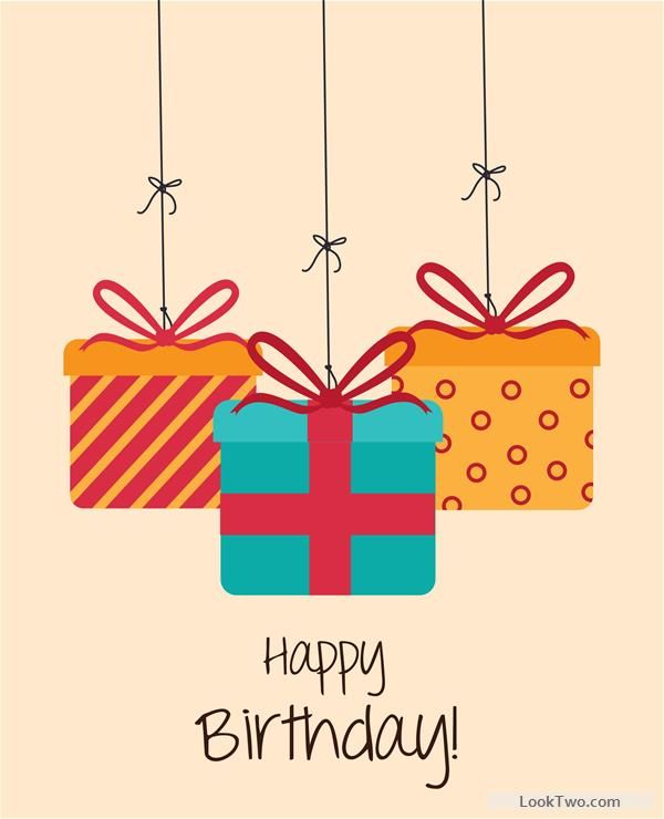 Free Cartoon style Happy Birthday greeting card template 04 vector - happy birthday card template free download