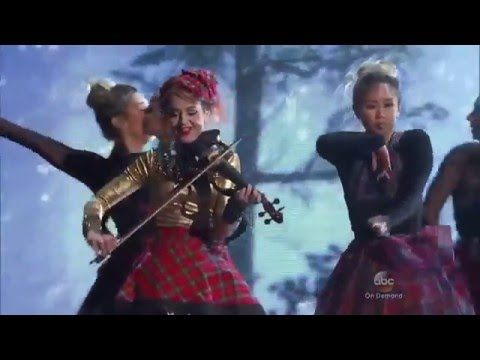 lindsey stirling cma country christmas 2015 celtic carol silent night youtube - Cma Country Christmas 2015