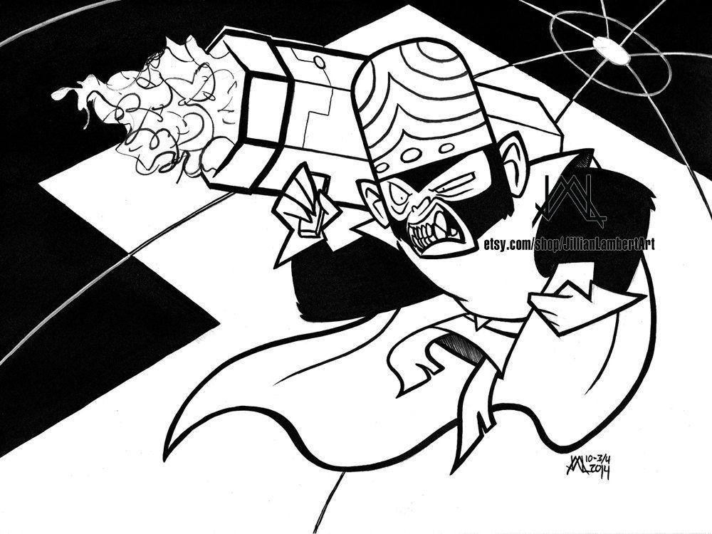 print mojo jojo fan art powerpuff girls tribute villains inktober