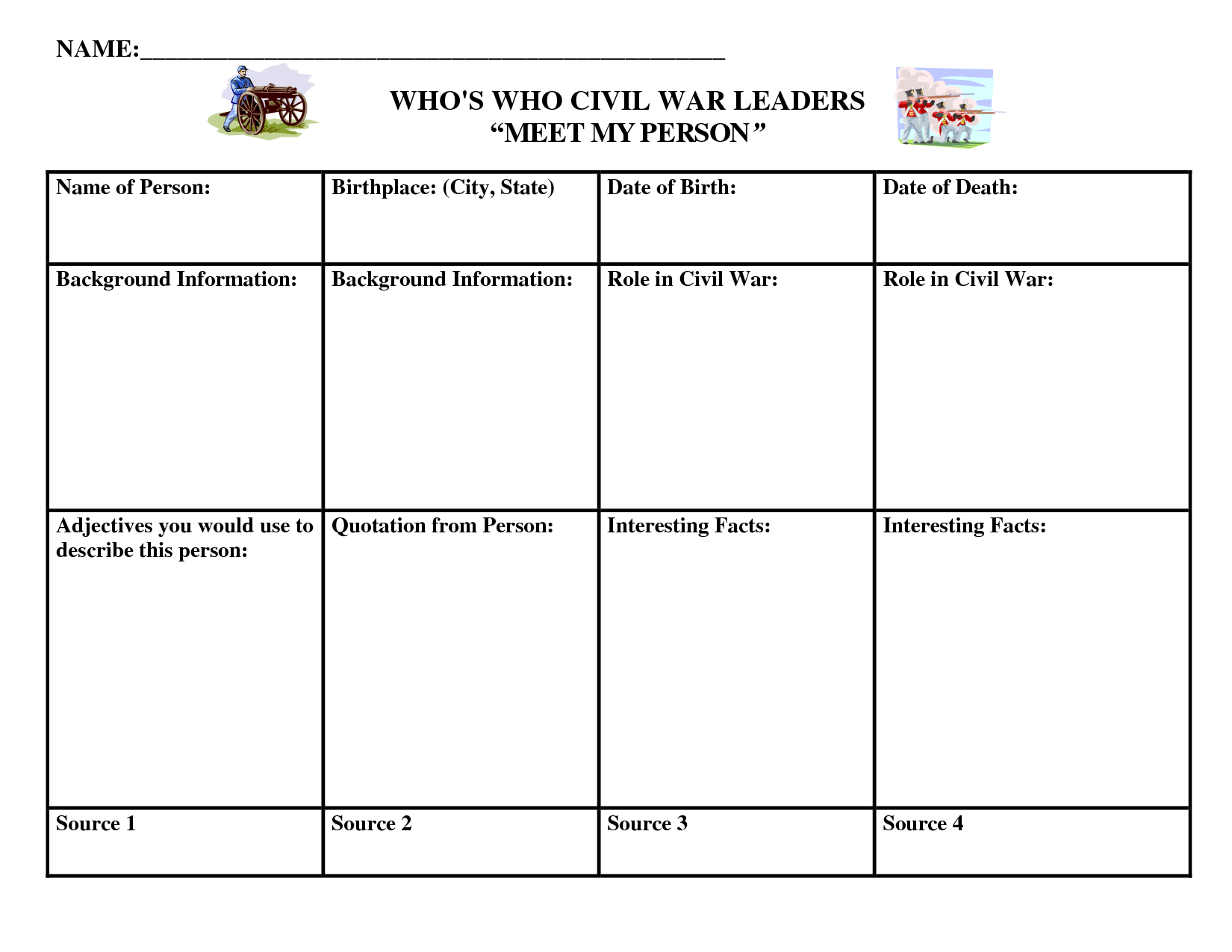 Worksheets Civil War Timeline Worksheet civil war biography graphic organizer core knowledge pinterest organizer