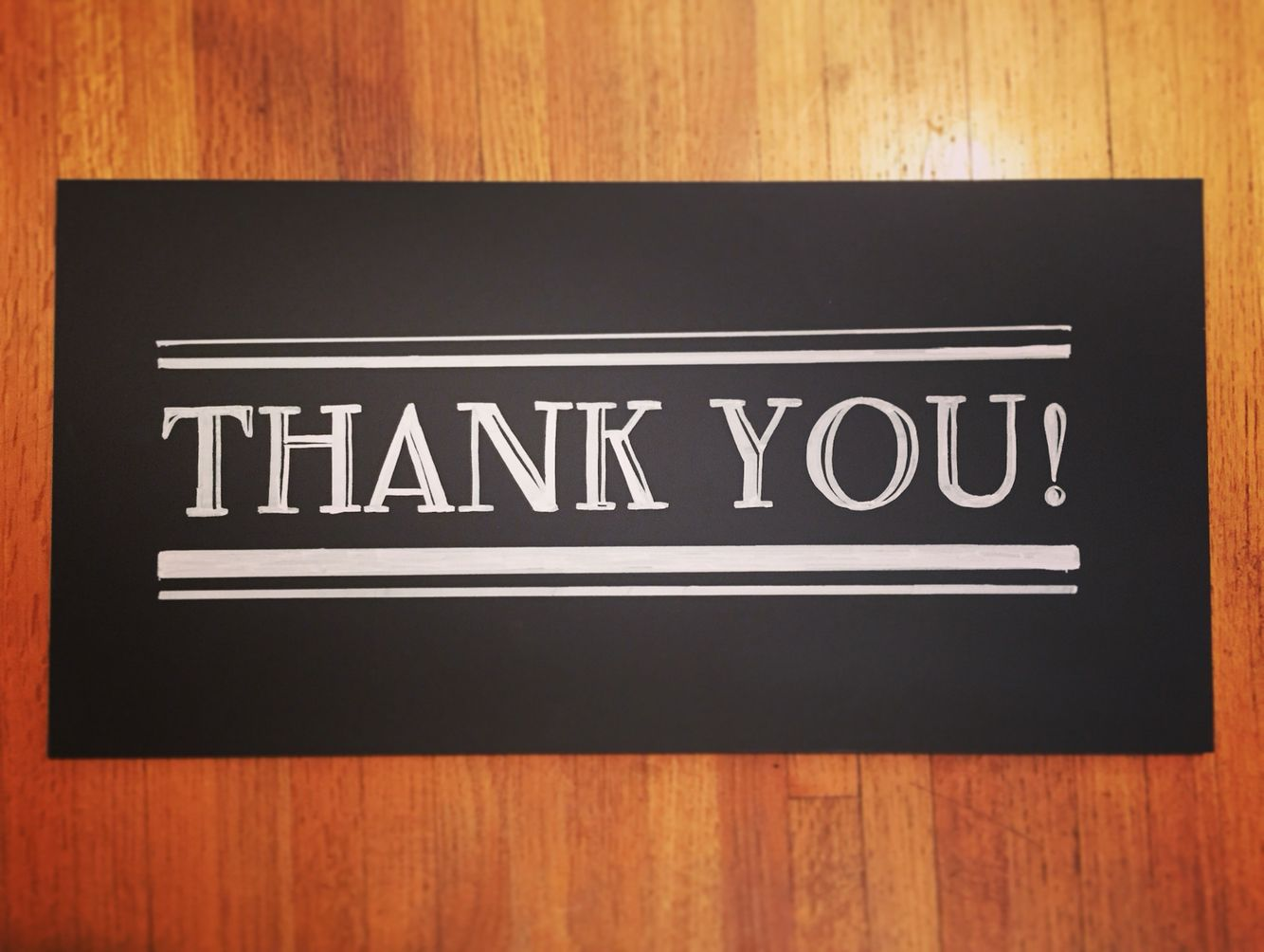 Thank you chalkboard one of a kind and hand drawn