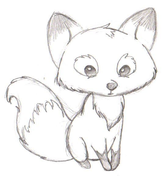 drawing ideas foxes cartoon and easy