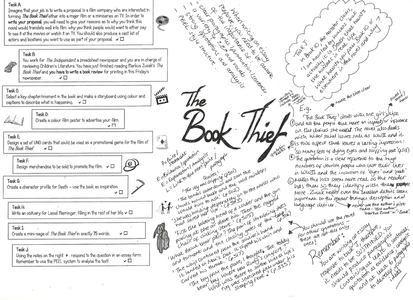 eng 8 book thief timeline