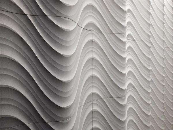 3d fliesen wellenartig modern wandideen gestaltung mosaics and tiles pinterest fliesen. Black Bedroom Furniture Sets. Home Design Ideas