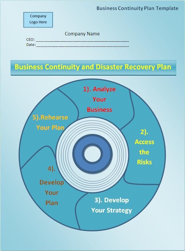 Business Continuity Plan Template wordstemplates Pinterest - free business continuity plan template