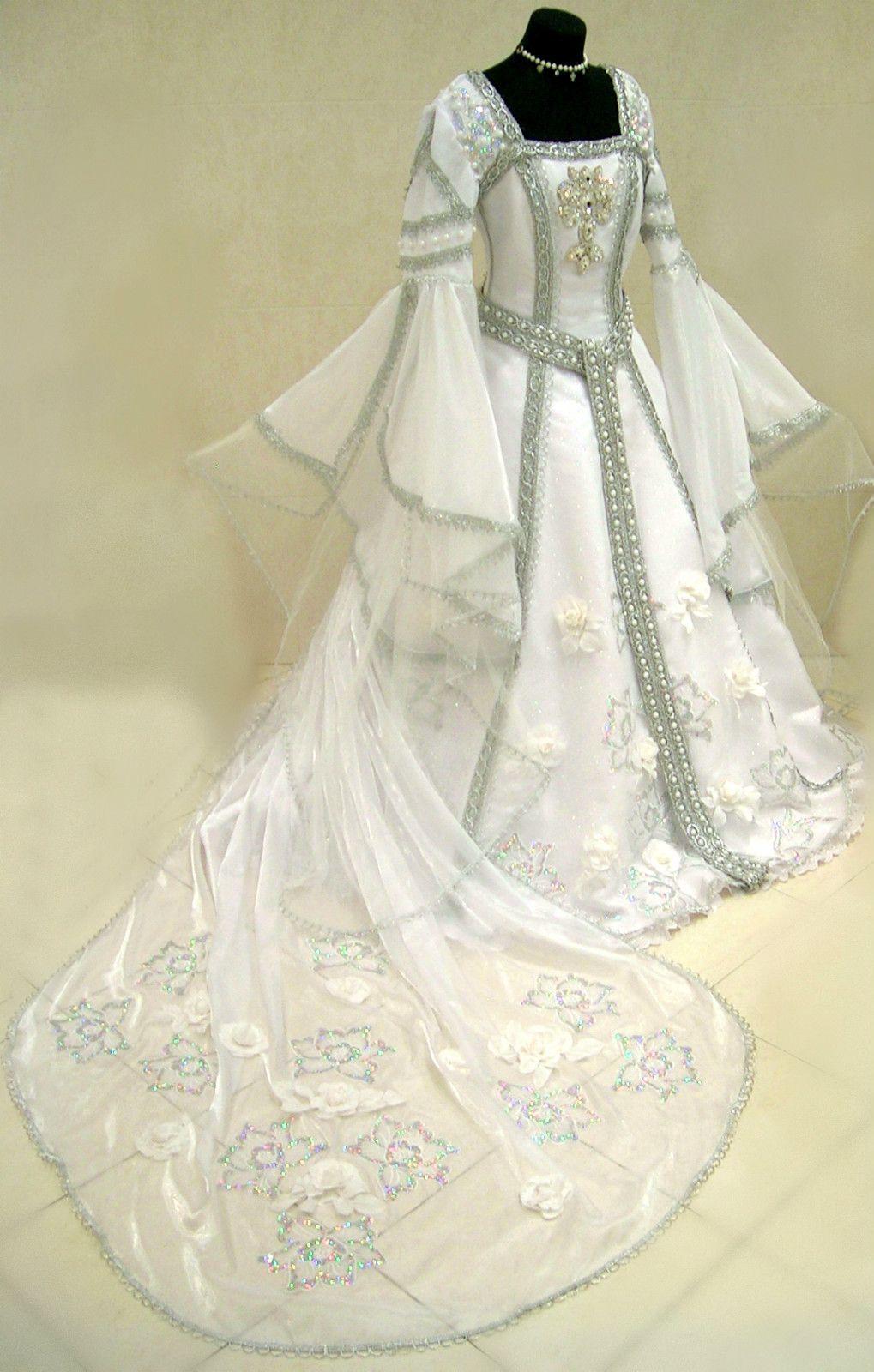 Medieval silver wedding dress Keywords: #weddings ...
