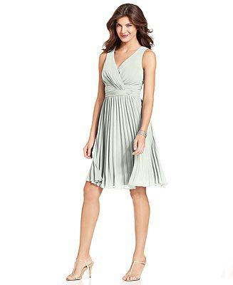 e58954d8cd44 Evan Picone Dress, Sleeveless Empire-Waist Pleated - Dresses - Women -  Macy's