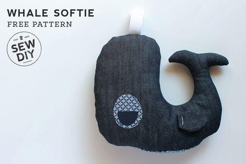 Free Pattern – DIY Whale Softie (via Bloglovin.com )