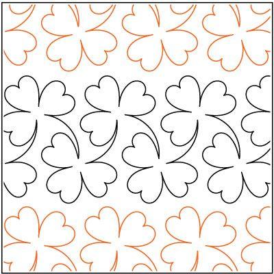 Hawaiian Quilt Patterns | Clover-quilting-pantograph-pattern ... : free quilting pantographs - Adamdwight.com