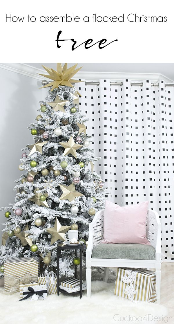 How To Assemble A Faux Christmas Tree.