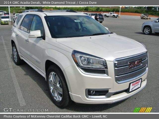 White Gmc Acadia 2014 Gmc Acadia Denali In White Diamond Tricoat