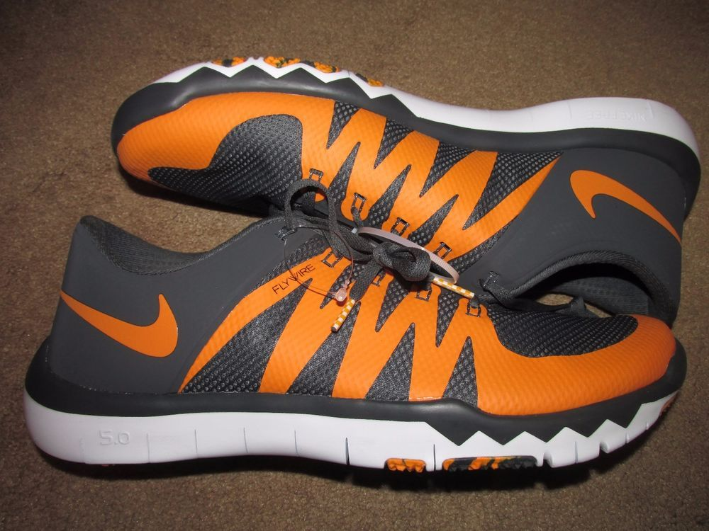 8710a3e739622 Nike Free Trainer 5.0 V6 AMP Tennessee Volunteers Mens Shoes 14 Grey 723939  004  Nike  RunningCrossTraining