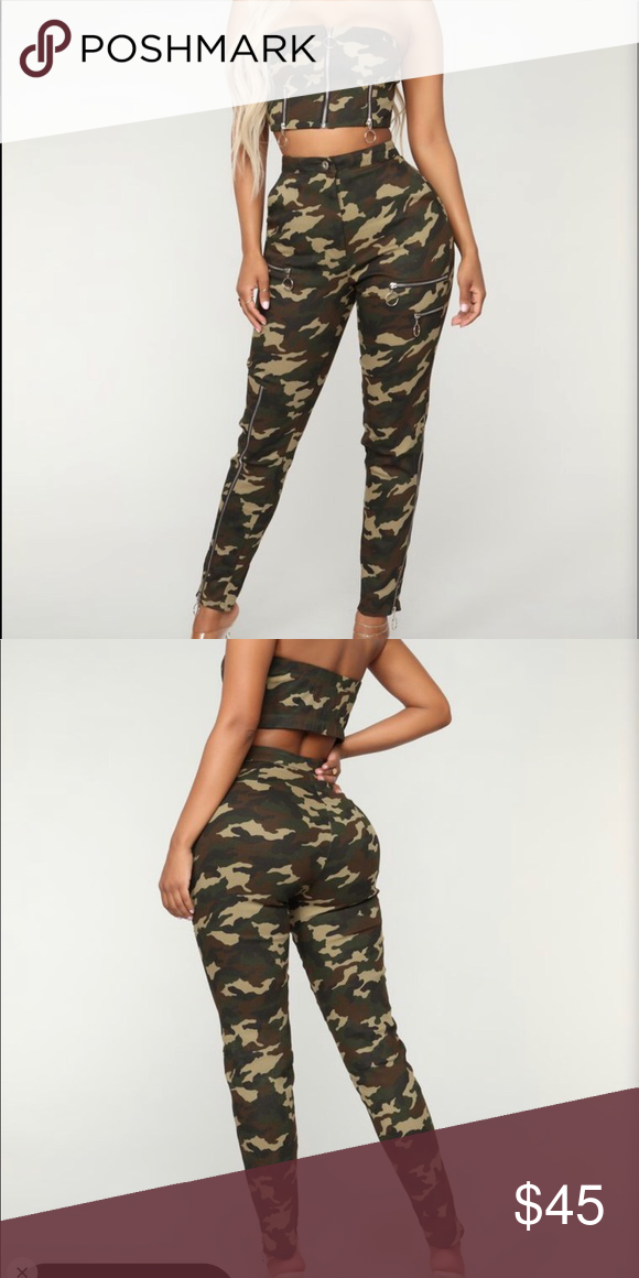 3f65c01d401e1 Ranked Top Notch Camo Set from Fashion Nova Two piece matching set Never  worn (except to try on) Strapless top High waist pants Fashion Nova Other