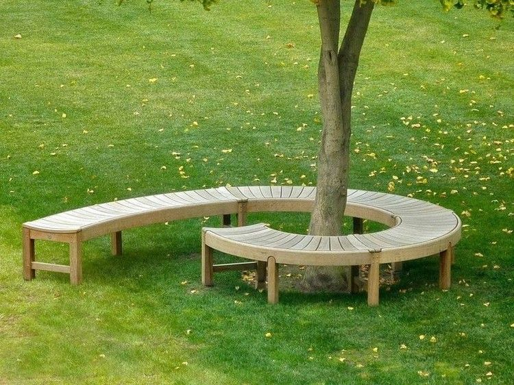 Creative Inspiring Tree Seats Around Trees Backyard