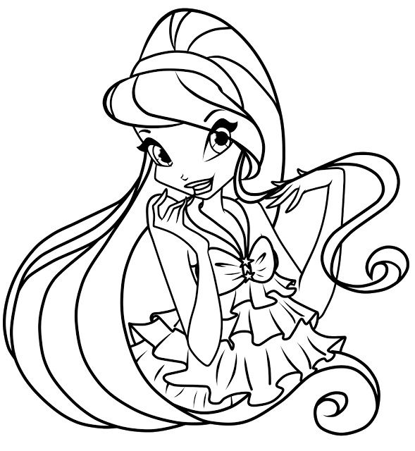 Free Printable Winx Club Coloring Pages For Kids | Malbücher ...