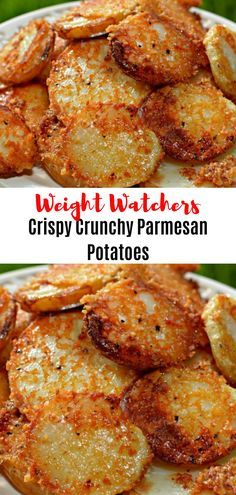 Crispy Crunchy Parmesan Potatoes // #weightwatchersrecipes #smartpointsrecipes #WeightWatchers #weight_watchers #Healthy #Skinny_food #recipes #smartpoints #WW #Parmesan #Crispy