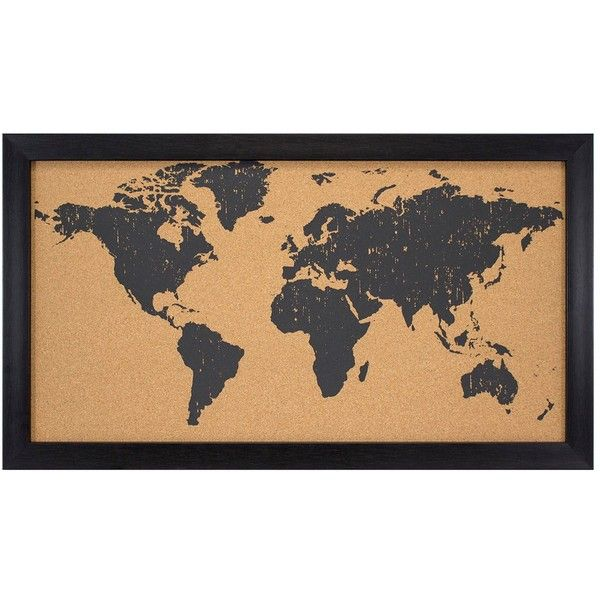 World map cork board blackbrown 28x16 42 cad liked on polyvore world map cork board blackbrown 28x16 42 cad liked on polyvore gumiabroncs Image collections
