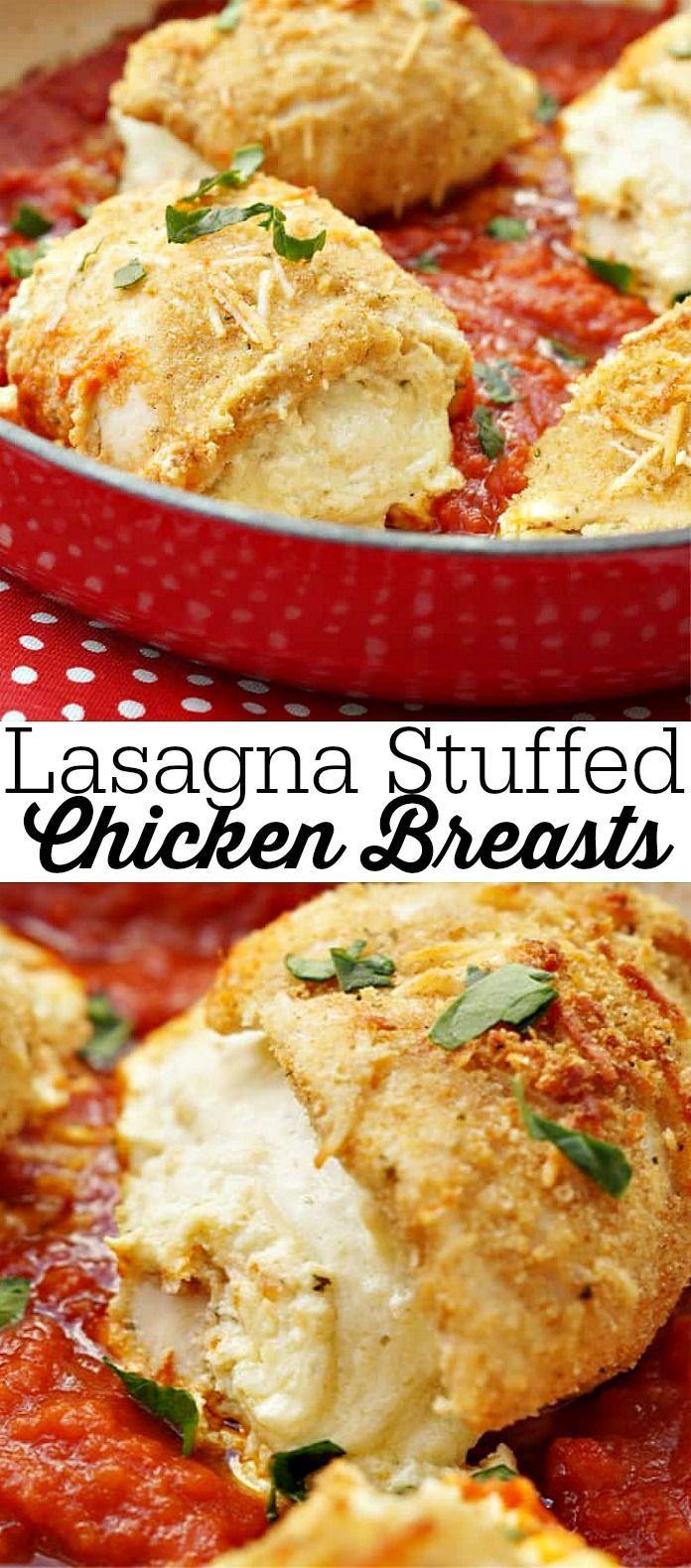 Lasagna Stuffed Chicken Breasts Lasagna Stuffed Chicken Breasts        Easy One Pot Dinner Recipe, Lasagna Stuffed Chicken Breasts