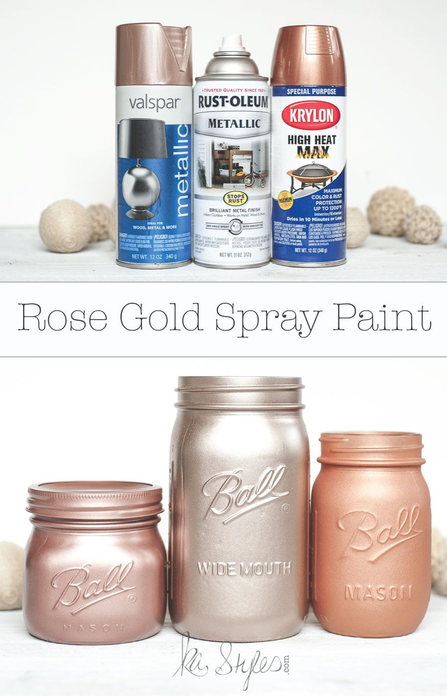 Rose Gold Spray Paint | Mason Jars! | DIY Home Decor