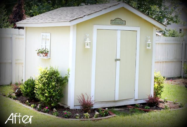 Extreme makeover shed addition plain shed prettied up Shed addition