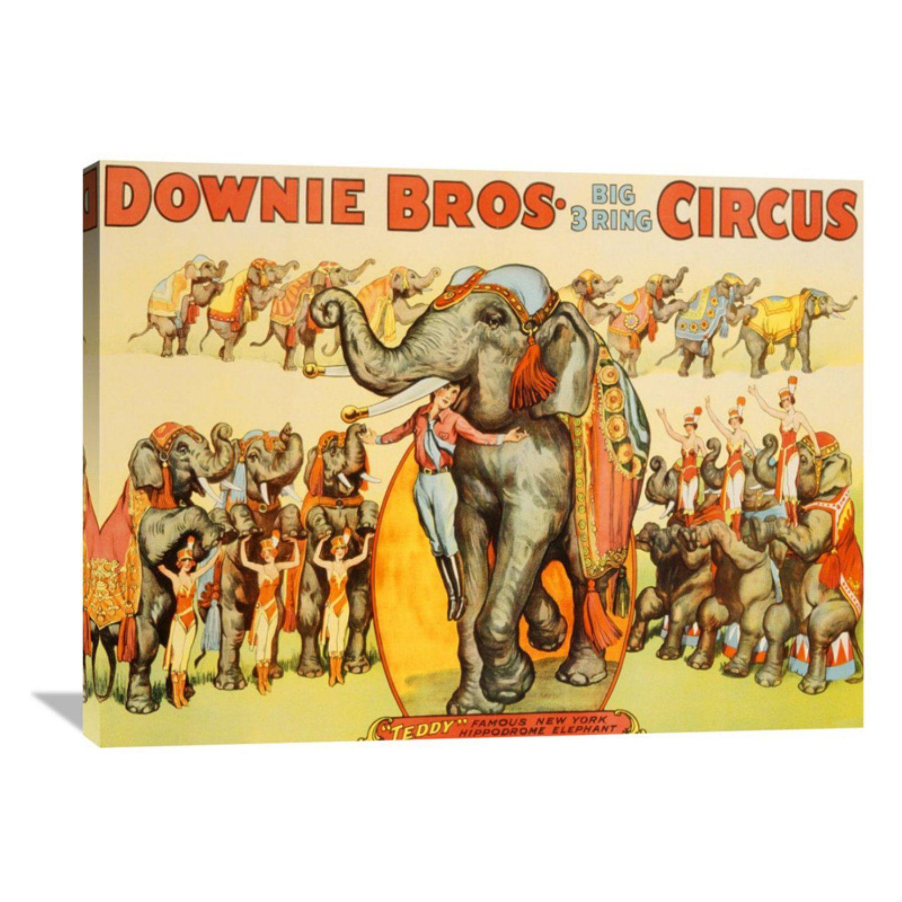 Global Gallery Downie Bros. Big 3 Ring Circus 1935 Wall Art - GCS ...