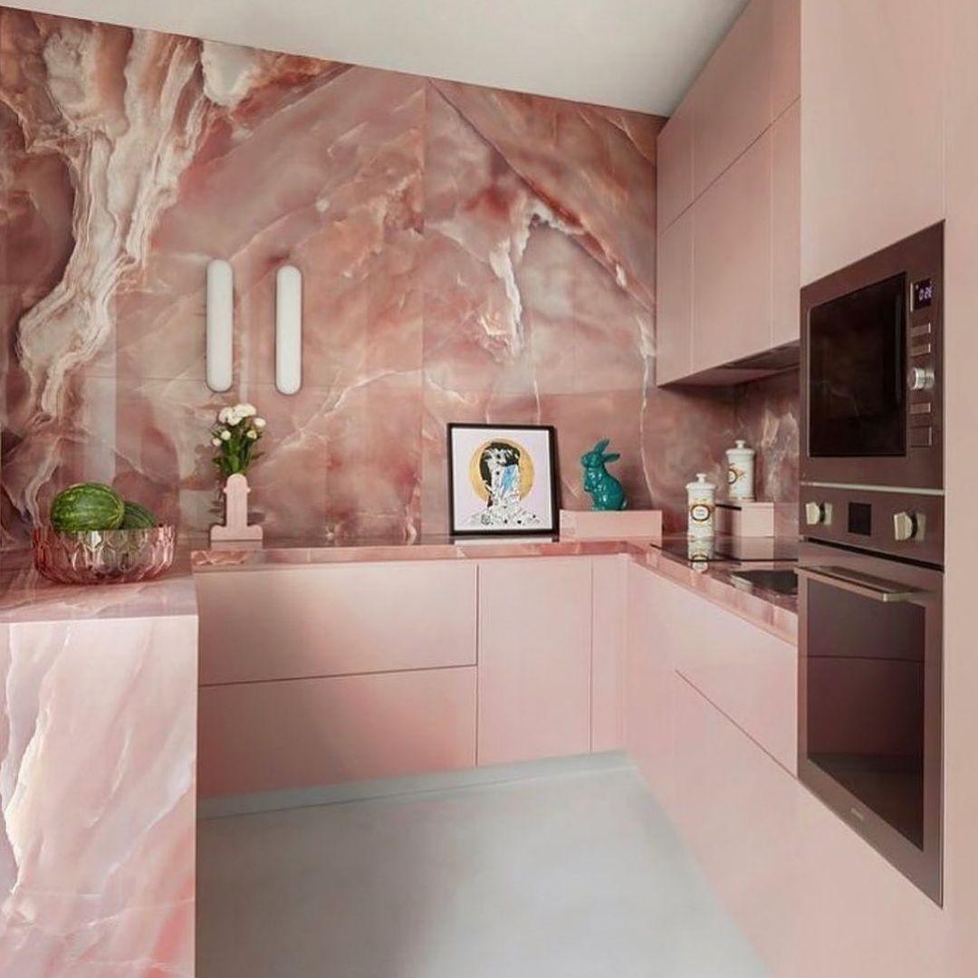 Gorgeous Pink Kitchen Design Decor