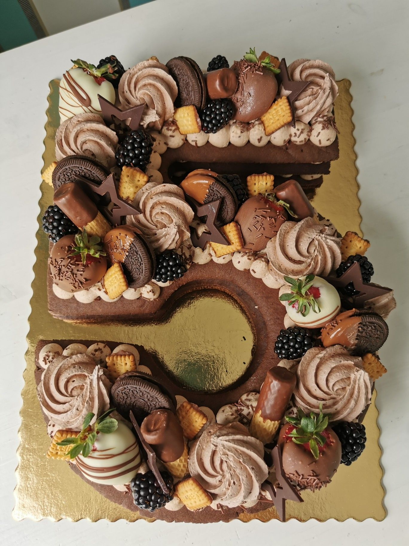 Chocolate number cake in 2020 number cakes cake desserts