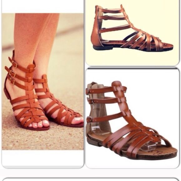 47a97bc6fe4c Brown gladiator sandals Reposh. Brand new!!!! Super cute!!! they are 5.5  but they didn t fit me. I d say 6 or maybe even 6.5 Shoes Sandals