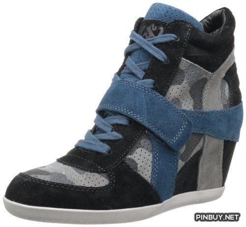 Ash Women's Bowie Bis Rubber Fashion Sneaker,Black-Smoke,36 EU-6 M US Ash - Army Girl