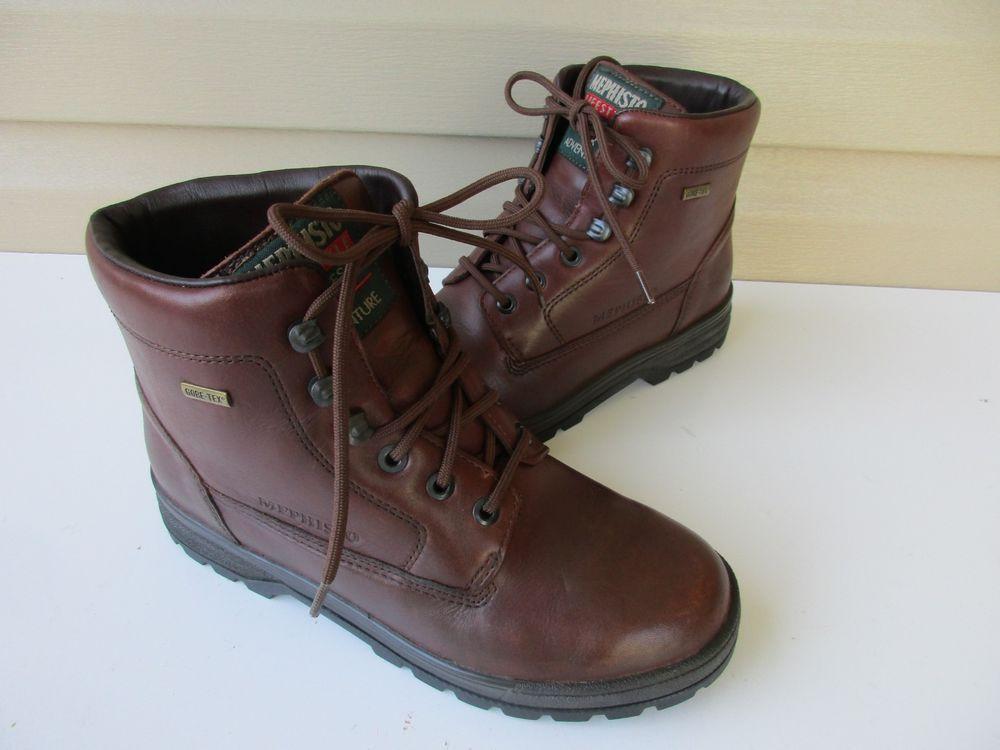 096ba7639b34f Mephisto Slacker Brown Leather Gore-Tex Hiking Boots Women's Sz 7.5 ...