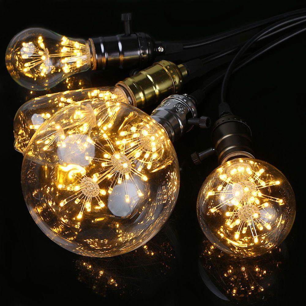 star 3w edison bulb led filament retro firework industrial decorative light lamp - Decorative Light Bulbs