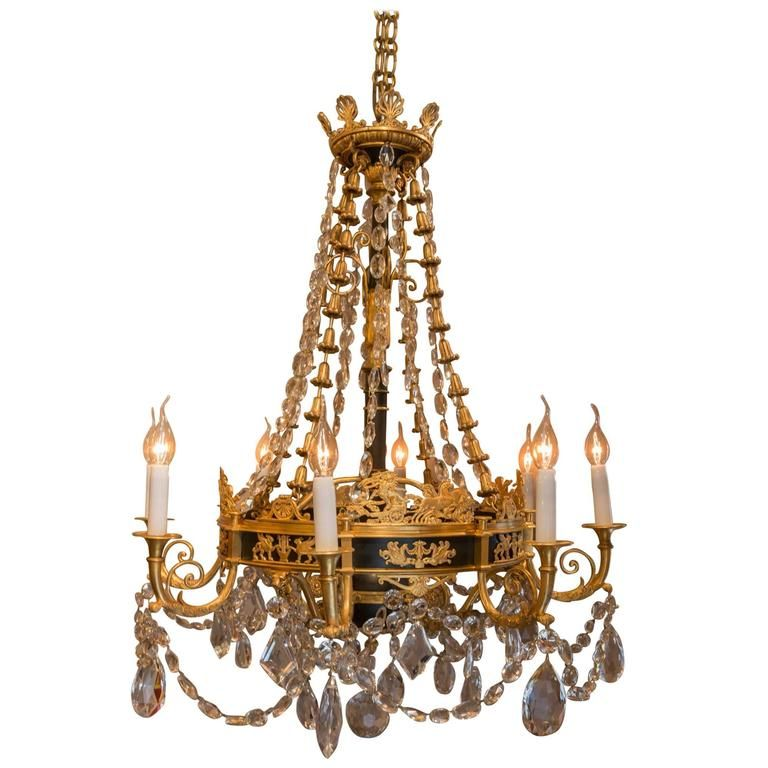 French empire style late 19th century patinated and gilt bronze french empire style late 19th century patinated and gilt bronze chandelier mozeypictures Images