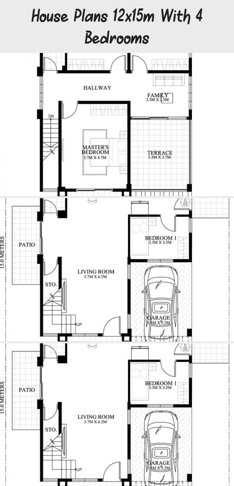 House Plans 12x15m With 4 Bedrooms Home Ideassearch Houseplans3000sqft Simplehouseplans Houseplansluxury In 2020 Beach House Plans House Plans Simple House Plans