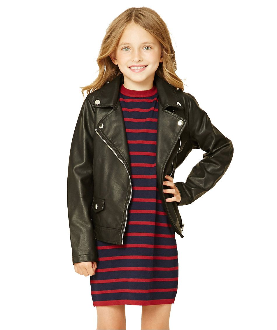 30 Great Gifts For Teens And Tweens That They Ll Truly Appreciate Kids Leather Jackets Girls Striped Dress Kids Fashion Girl [ 1132 x 950 Pixel ]