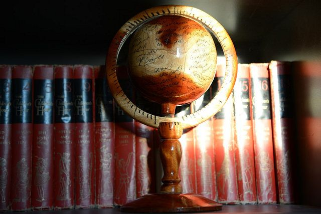 """ I put that wooden globe on a shelf as a global witness that machetes can be exchanged and things and kids can change, minds can change, the world, your world, can change. And there is not anything to fear."" -Ann Voskamp"