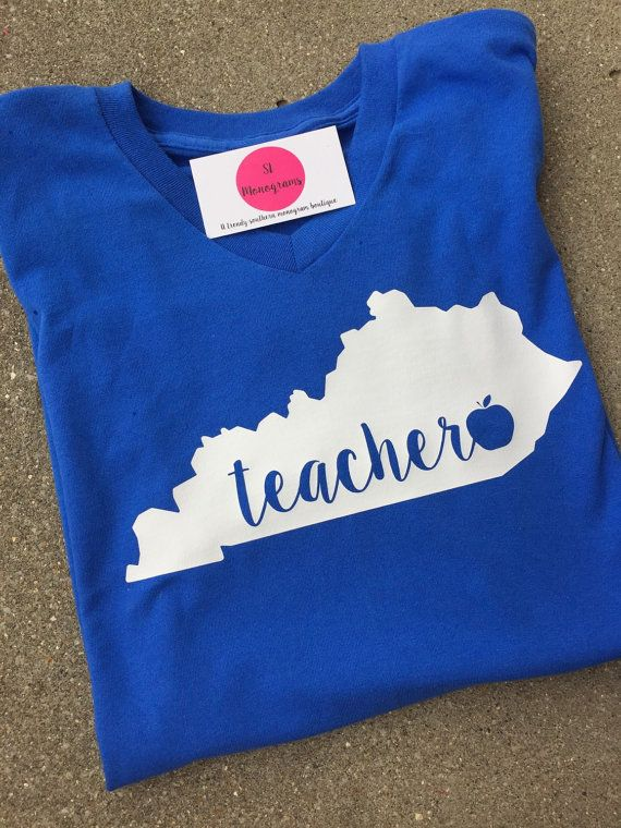 Teacher Shirt Designs   Kentucky Teacher Shirt By Monogramshoppeky On Etsy Embroidery