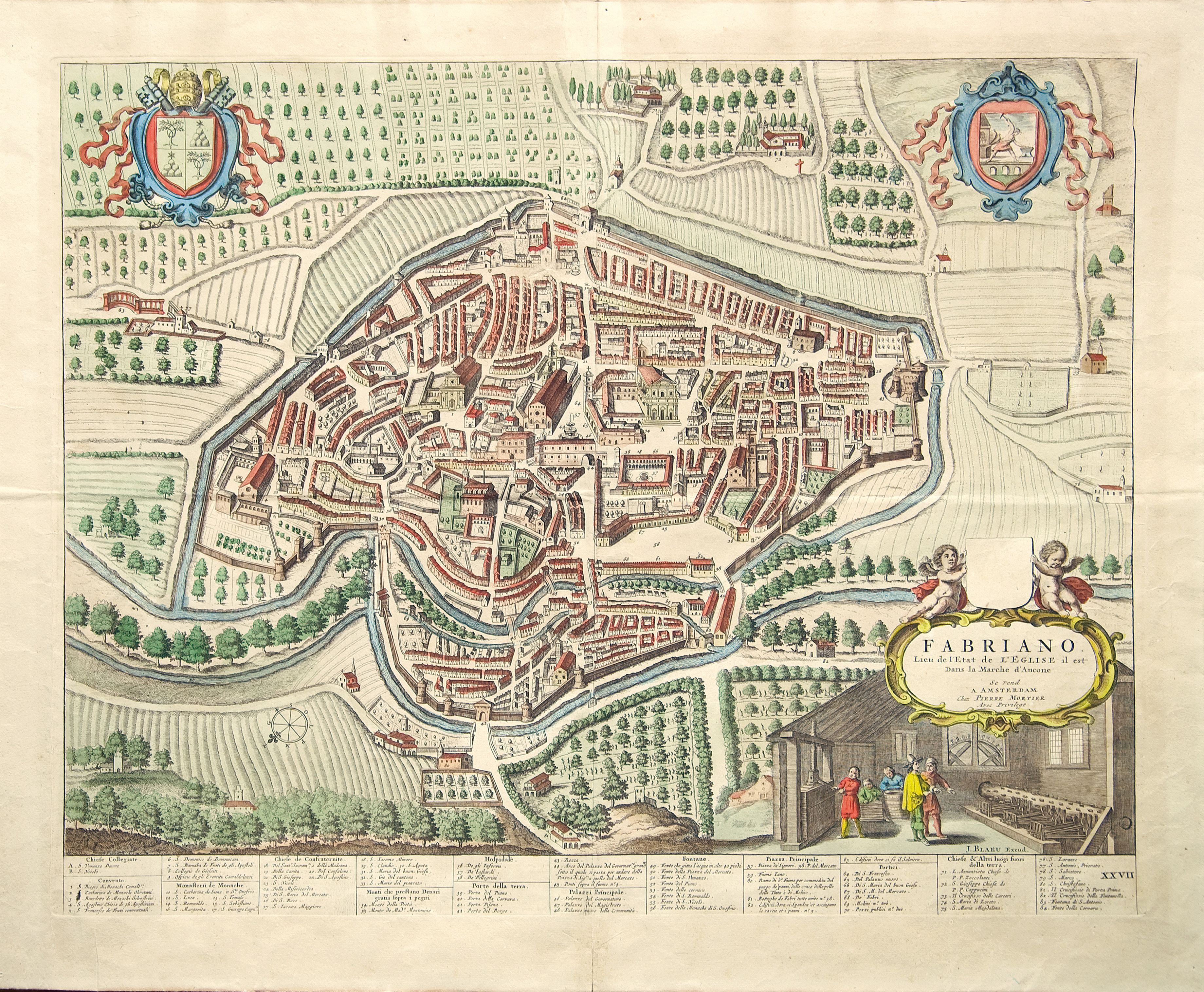 Historical map of Fabriano city Fabriano Culture