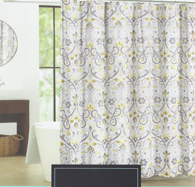 Amazon Cynthia Rowley Baaman Grey and Yellow Floral Scroll