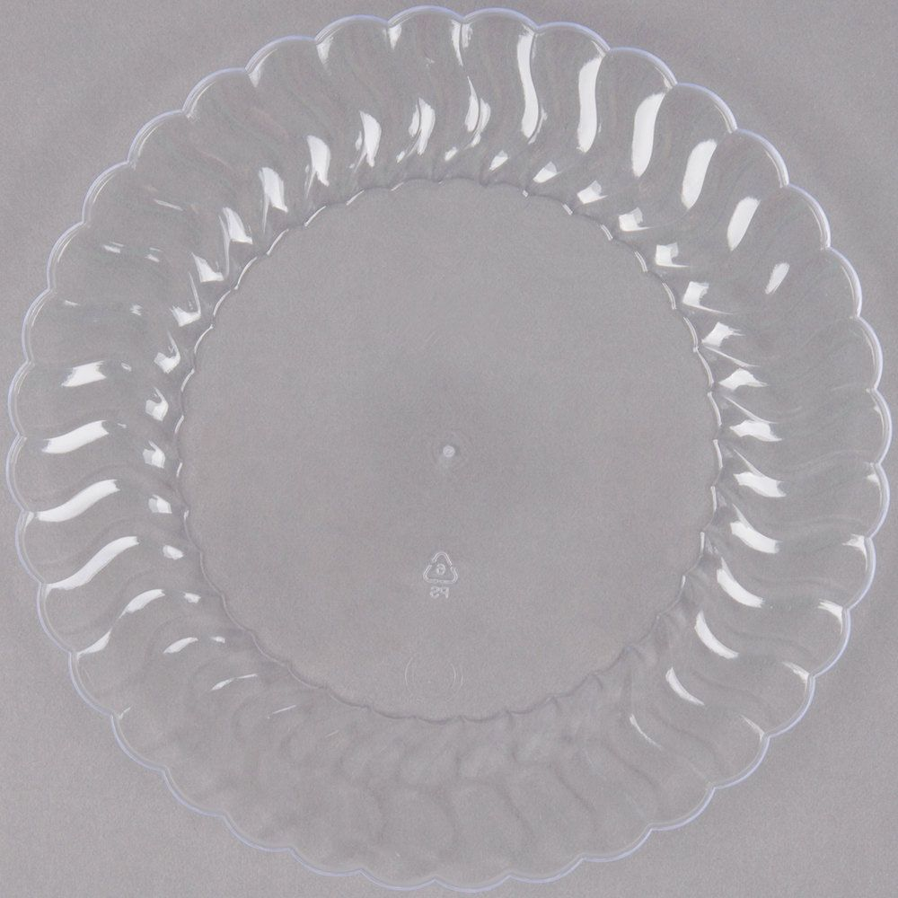 Plastic 6 Inch Clear Round Dessert Plate Case Of 180 Tags Plates