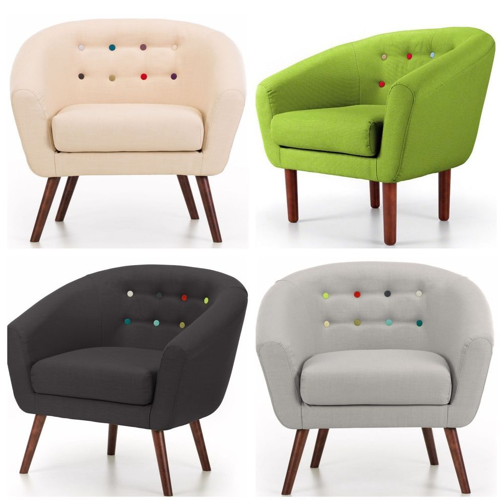 Armchair Sofa 1 Seater Couch Fabric Futon Relax Furniture Cream Black Lime Grey Couch Fabric Sofa Ebay Sofa